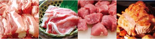 国産銘柄豚各種、アメリカンポーク及び諸外国のポーク取扱い